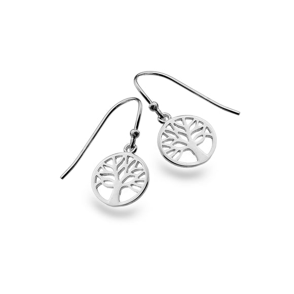 Contemporary Tree of Life Drop Earrings