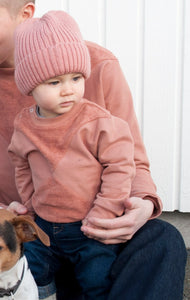 The Mini Nor sweater with terry - Rose