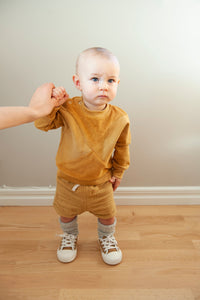 The Mini Nor sweater with terry - Gold