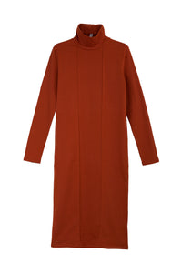 The Claire dress - Brick red