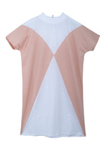 Load image into Gallery viewer, The Clara t-shirt dress - Optical white/Powder pink