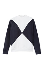 Load image into Gallery viewer, The Nor Sweater - Optical white / Dark blue
