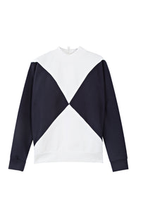 The Nor Sweater - Optical white / Dark blue