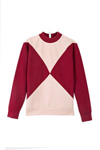 The Nor sweater - Powder pink / Dark red