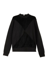 The Nor sweater with terry - Black