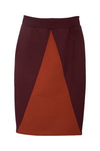 The Tova skirt - Wine/Brick red