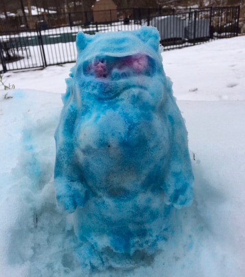 Beware of the Blue Snow Yeti this Winter!