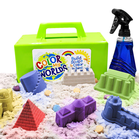 Colored Sandcastles with Kit