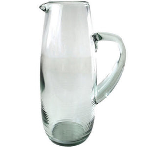 Be Home Recycled Glass Ripple Pitcher