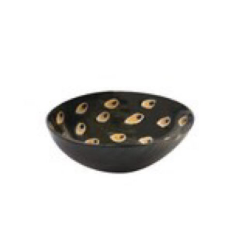 Be Home Horn Bowl Peacock Small