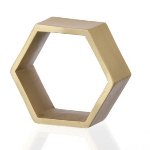 Be Home Hexagon Napkin Ring Gold