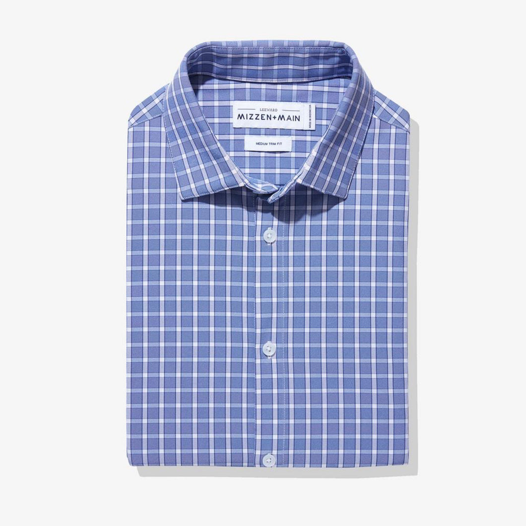 Mizzen And Main - Barnes - Light Blue Plaid