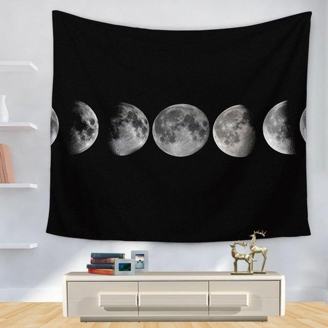 '7 STAGES' BLACK MOON TAPESTRY-Tapestry-THE TAPESTRY STORE