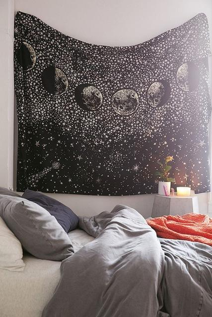 '7 STAGES' STAR SPANGLED MOON TAPESTRY-Tapestry-THE TAPESTRY STORE