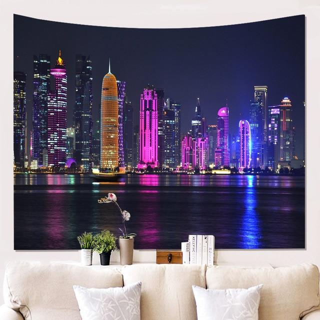 BEAUTIFUL COLOURS CITY NIGHT WALL TAPESTRY-Tapestry-THE TAPESTRY STORE