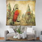 BEAUTIFUL PICTURESQUE 'BUDDHIST' MURAL DESIGN TAPESTRY-Tapestry-THE TAPESTRY STORE