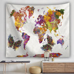 BOHEMIAN BUTTERFLY WORLD MAP TAPESTRY-Tapestry-THE TAPESTRY STORE