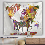 BOHEMIAN MANDALA HORSE WORLD MAP TAPESTRY-Tapestry-THE TAPESTRY STORE