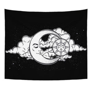 BOHEMIAN MOON AND SUN TAPESTRY WALL HANGING-Tapestry-THE TAPESTRY STORE