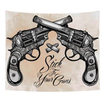 BOHEMIAN STICK TO YOUR GUNS TAPESTRY WALL HANGING-Tapestry-THE TAPESTRY STORE