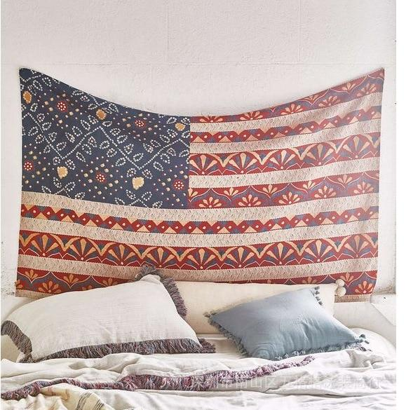 BOHEMIAN STYLE AMERICAN FLAG WALL HANGING TAPESTRY-Tapestry-THE TAPESTRY STORE