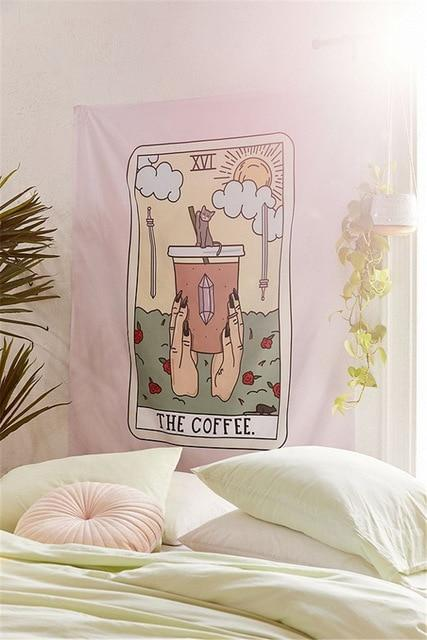 COFFEE TAROT TAPESTRY-Tapestry-THE TAPESTRY STORE