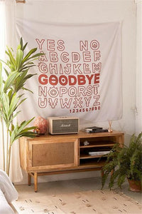 COOL ALPHABET TAPESTRY-Tapestry-THE TAPESTRY STORE