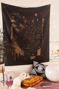 COSMIC CAT TAROT TAPESTRY-Tapestry-THE TAPESTRY STORE