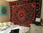 EXCLUSIVE VINTAGE INDIAN HIPPIE MANDALA STYLE TAPESTRY-Tapestry-THE TAPESTRY STORE