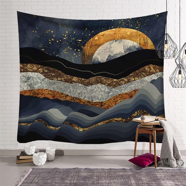 NORDIC DESERT NIGHT TAPESTRY-Tapestry-THE TAPESTRY STORE
