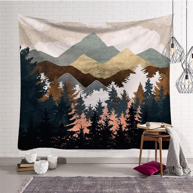 'NORDIC MOUNTAINS' TAPASTRY-Tapestry-THE TAPESTRY STORE