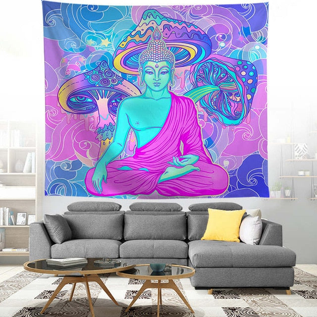 PURPLE HAZE (BUDDHIST TRIP)  PSYCHEDELIC TAPESTRY