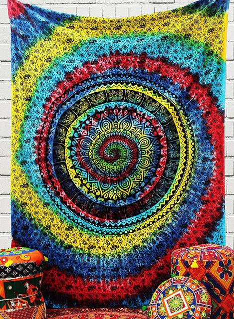 TRIPPY MANDALA STYLE TAPESTRY-Tapestry-THE TAPESTRY STORE