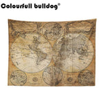 VINTAGE WORLD MAP PRINT STYLE TAPESTRY-Tapestry-THE TAPESTRY STORE