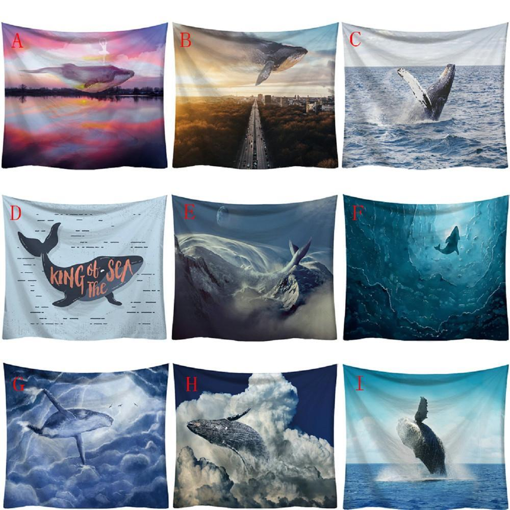 WHALE DESIGN TAPESTRIES-Tapestry-THE TAPESTRY STORE