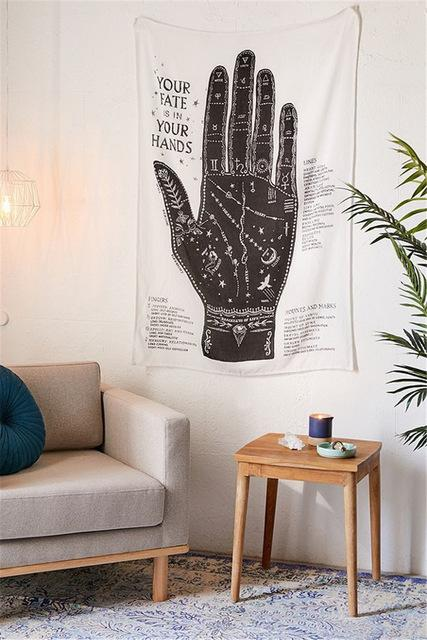 'YOUR FATE IS IN YOUR HANDS' TAROT TAPESTRY-Tapestry-THE TAPESTRY STORE