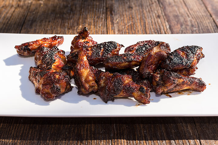 Smoked Burnt End Sweet BBQ Wings recipe