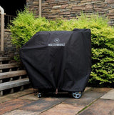 Scroll to product image Gravity Series™ 800 Digital Charcoal Griddle + Grill + Smoker Cover outdoors on patio