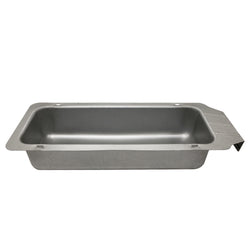 Grease tray with handle for easy removal