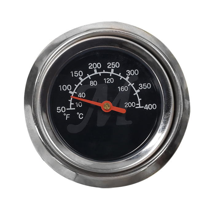 Temperature gauge dial with degrees in Fahrenheit and Celsius