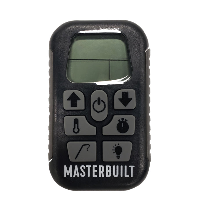 Masterbuilt digital remote (Gen 1), black with gray buttons and side grips