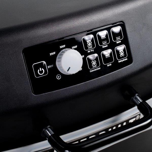 Air Fryer Control Panel with temperature dial knob and seven presets