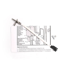 Temperature probe, replacement instructions, screw and nut