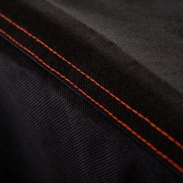 Orange double stitching