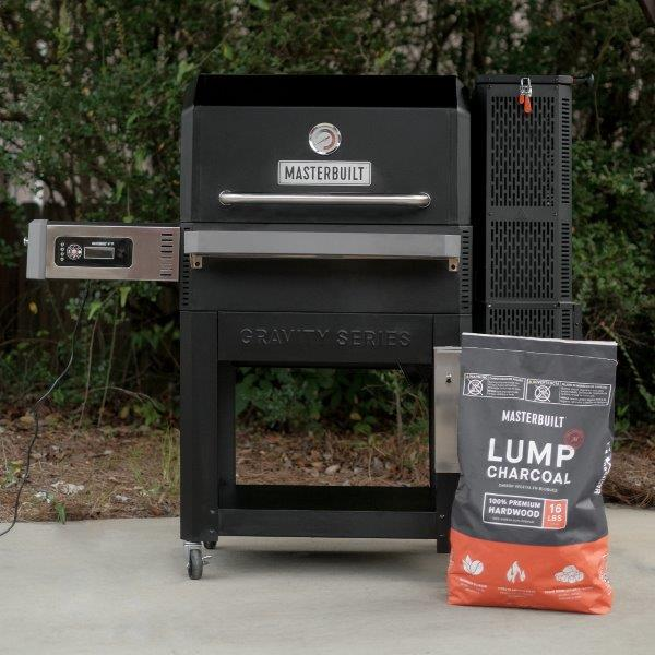 Gravity Series Digital Charcoal Grill with 16 pound masterbuilt lump charcoal bag