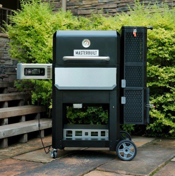 Gravity Series 800 Digital Charcoal Griddle + Grill + Smoker outdoors
