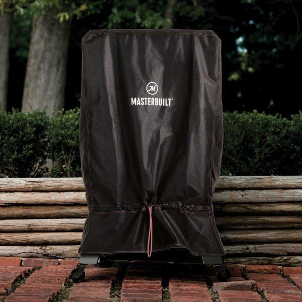 Digital Charcoal Smoker Cover on Brick Patio