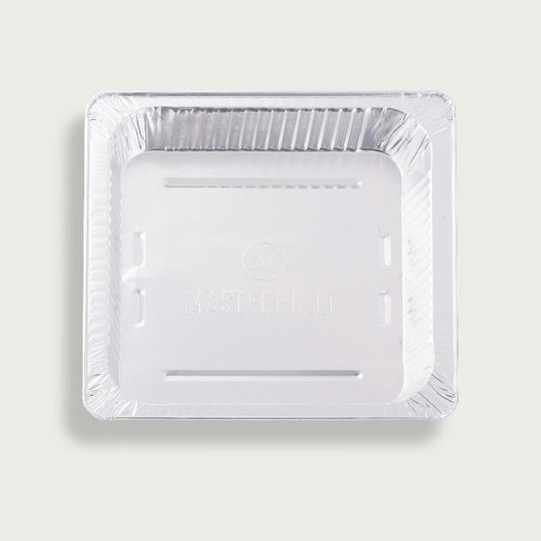 Rectangular, aluminum disposable pan makes cleanup easy