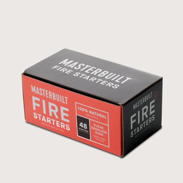 48 count box of Masterbuilt fire starters