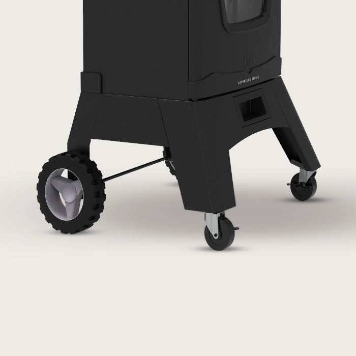 Smoker Leg kit with wheels and casters